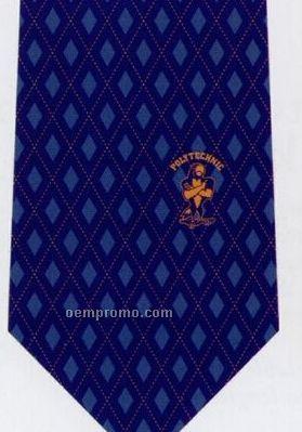 Custom Logo Woven Poly-silk Tie - Pattern Style H