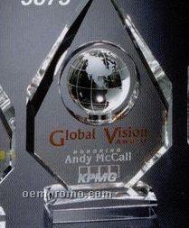 "Global Gallery Crystal Magellan Global Award (9"")"