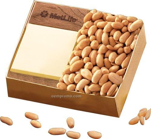 Walnut sticky memo pad W/ Choice Virginia Peanuts