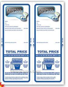 Cre8tive 4 Color Process Custom Laser Form W/ Paper Bak (2 Up Per Sheet)