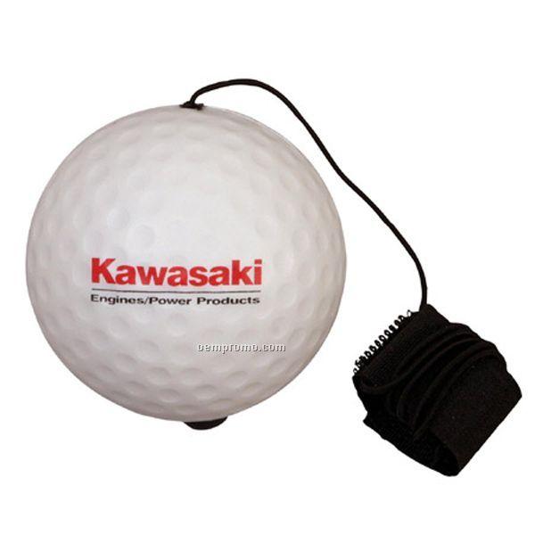 Golf Ball Yo-yo Bungee Stress Reliever