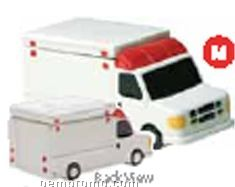 Ambulance Ceramic Specialty Cookie Keeper - White