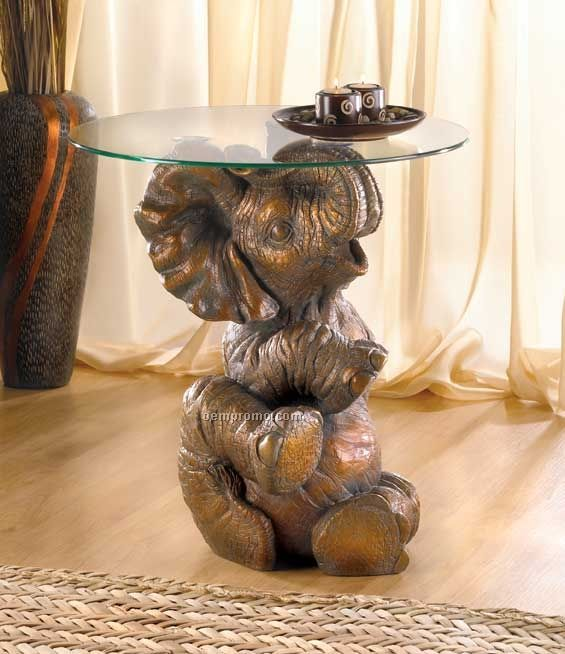 Playful Elephant Accent Table