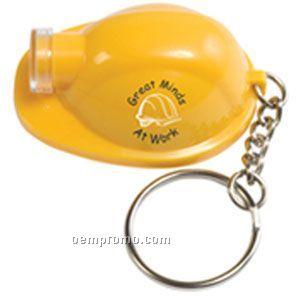 Safety Helmet Flashlight Keychain - Yellow