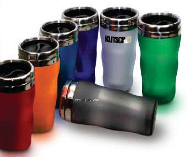 16 Oz. Satin Wave Acrylic Shell Tumbler Mug