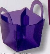 """5152-tinted & Frosted Small Basket W/Integrated Handles (2"""" X 2-3/8"""" X 2"""")"""