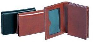 Cognac Brown Italian Calf Leather Magnetic Card Case