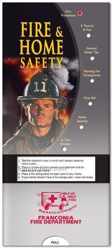 Fire & Home Safety Pocket Slider Chart - Brochure