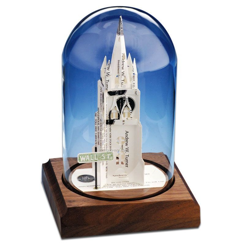 Glass Dome Business Card Sculpture - Trinity Church