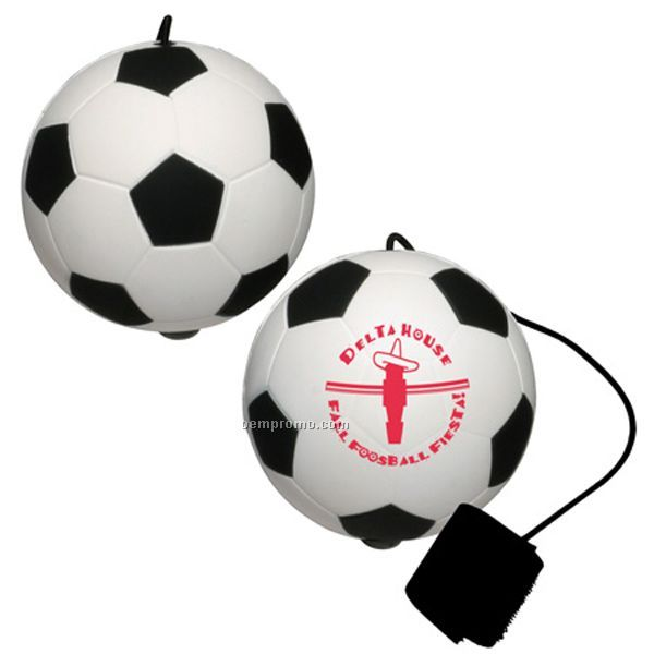 Soccer Ball Stress Reliever With Yo-yo Bungee