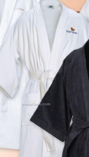 """Black Diamond Weave Kimono Robe (48"""")"""