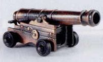Military Bronze Metal Pencil Sharpener - Naval Cannon