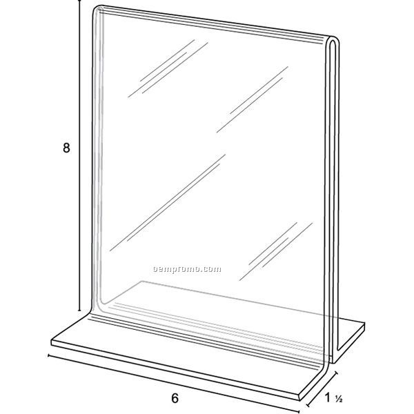 Open Bottom Frame For 6'' W X 8'' H