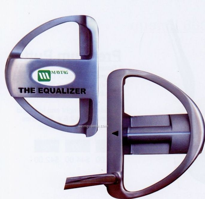 The Equalizer Mallet Style Golf Putter W/ Polymer Insert