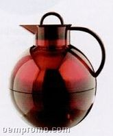30 2/5 Oz. Transparent Alfi Kugel Ball Pitcher Server (Cognac Red)