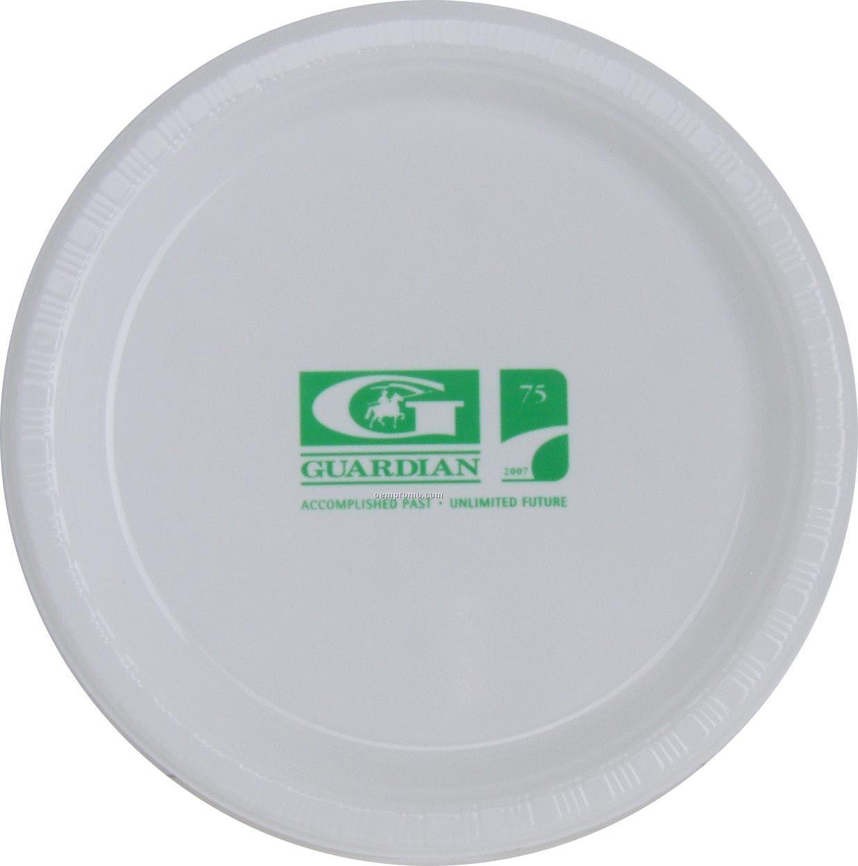 """9"""" Round White Colorware Paper Plate"""