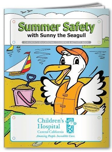 Action Pack Coloring Book W/ Crayons & Sleeve - Summer Safety