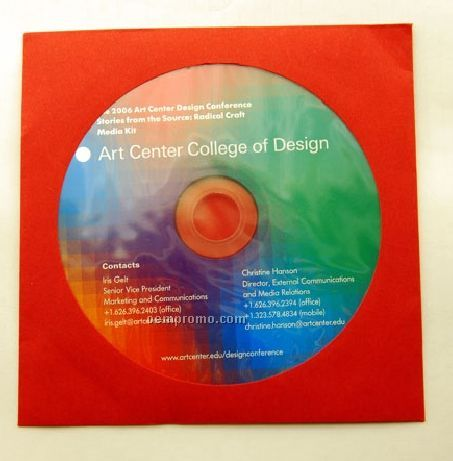 CD Replication In Red Paper Sleeve