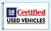 Stock Dealer Logo Flags - Gm Certified Used Vehicles (3'x5')