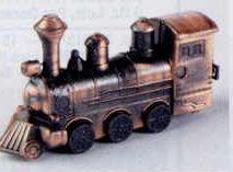 Early American Bronze Metal Pencil Sharpener - Locomotive