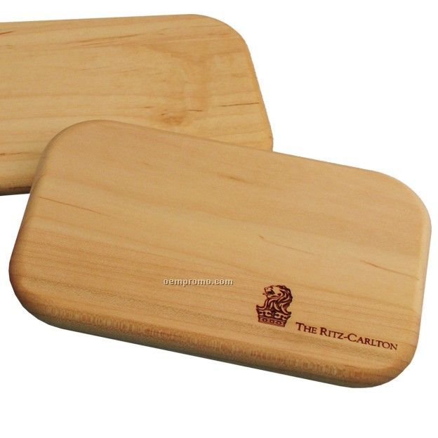 "Rectangular Cheese And Cracker Cutting Board (6""X4""X1/2"")"