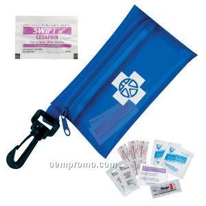 Traveler's Emergency Aid Kit # 1 W/ Ibuprofen & Translucent Zipper Pouch