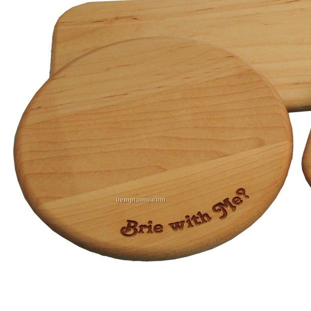 Round Cheese And Cracker Cutting Board