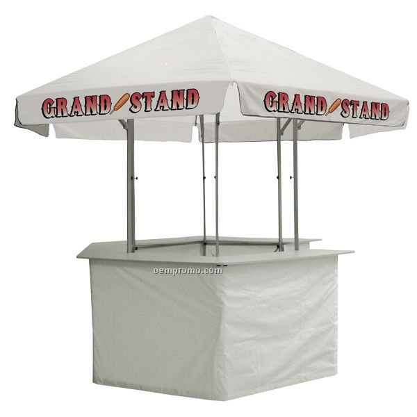 12' Concession Stand Tent W/ Full Color Thermal Imprint In 2 Locations