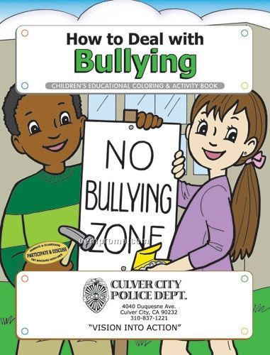 Action Pack Coloring Book W/ Crayons & Sleeve - How To Deal With Bullying