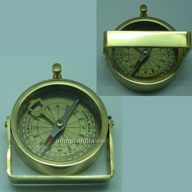 Brass Handle Compass(Laser Engraved)