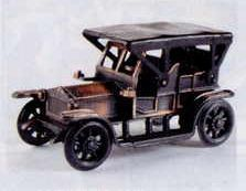 Early American Bronze Metal Pencil Sharpener - Antique Car