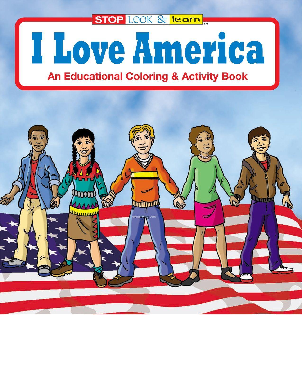I Love America Coloring Book Fun Pack
