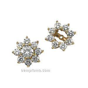 Ladies' 14ky 1-1/5 Ct Tw Diamond Round Earring Jacket
