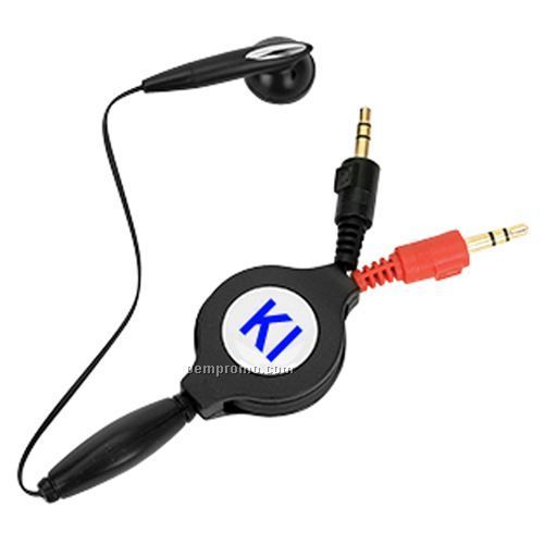 Retractable PC Earphone With Microphone