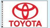 Stock Dealer Logo Flags - Toyota (3'x5')