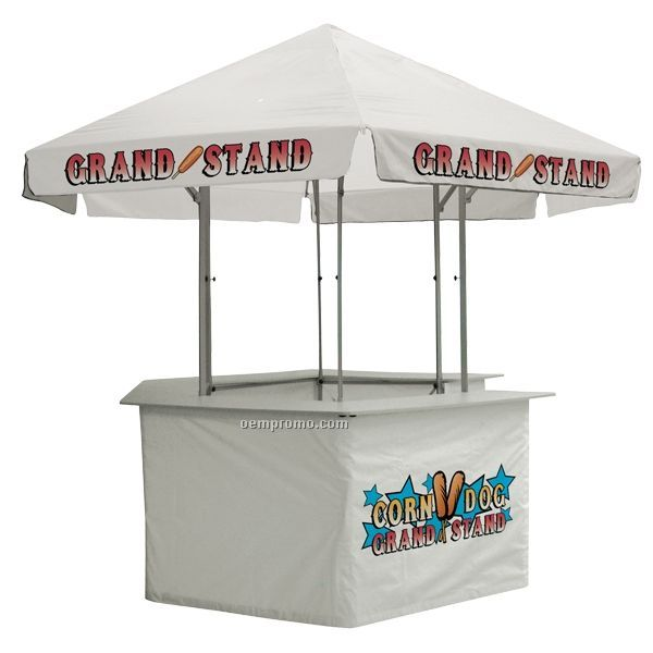 12' Concession Stand Tent W/ Full Color Thermal Imprint In 3 Locations