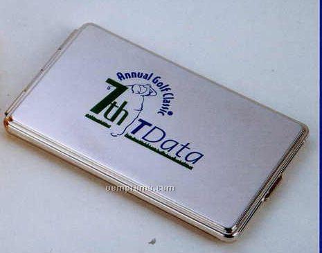 """3-4/5""""X2-1/5"""" Executive Address Book/ Metal Case (Silver)"""