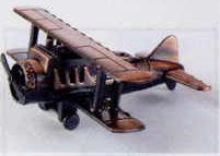 Early American Bronze Metal Pencil Sharpener - Biplane