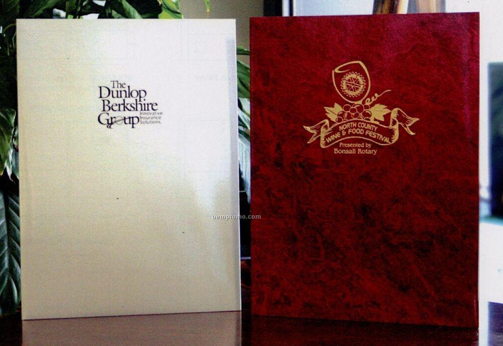 """Style A Designer Paper Foil Stamped 2-pocket Folder (9""""X12"""")"""