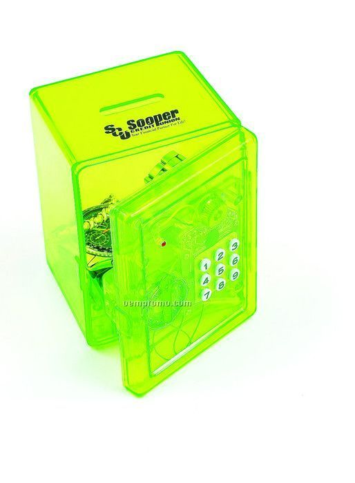 "4-1/2""X3-1/4""X4-3/4"" Green Electronic Safe Bank"