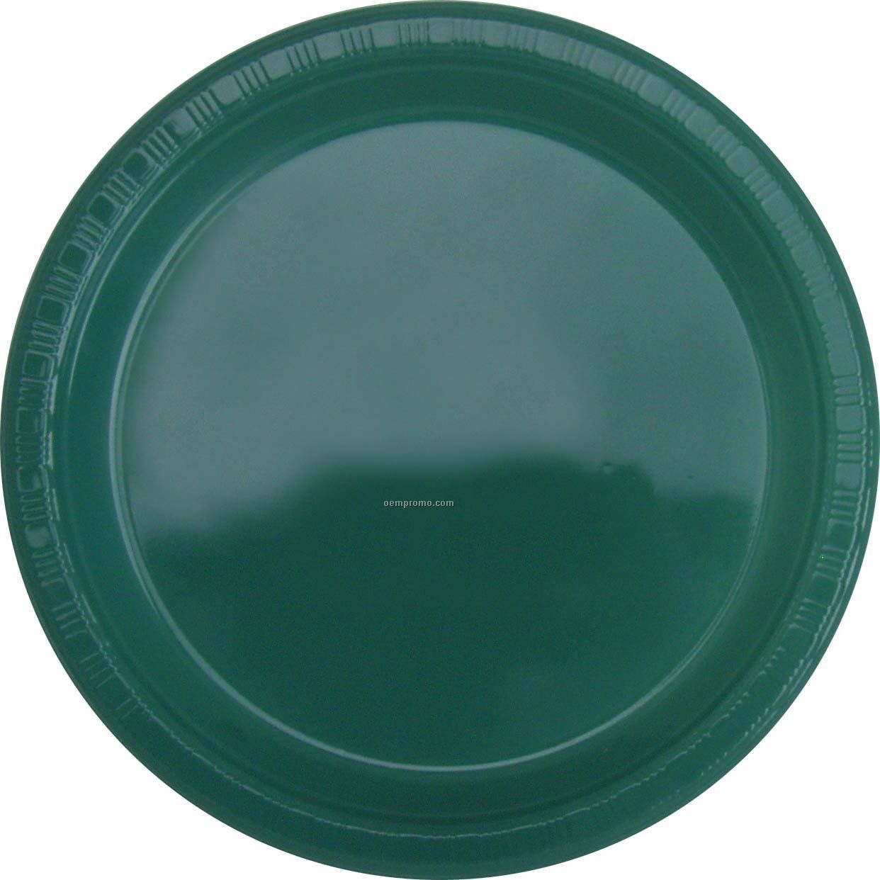 "Colorware 7"" Hunter Green Plastic Plate"