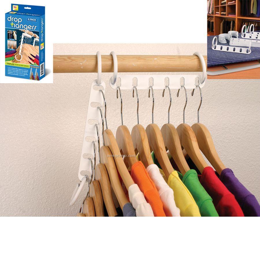 Drop Hanger Closet Organizer 8 Pack