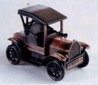 Early American Bronze Metal Pencil Sharpener - Model T Car