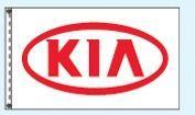 Stock Dealer Logo Flags - Kia (3'x5')