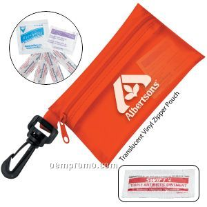 Take-a-long First Aid Kit #2 W/ Triple Antibiotic Ointment & Vinyl Pouch