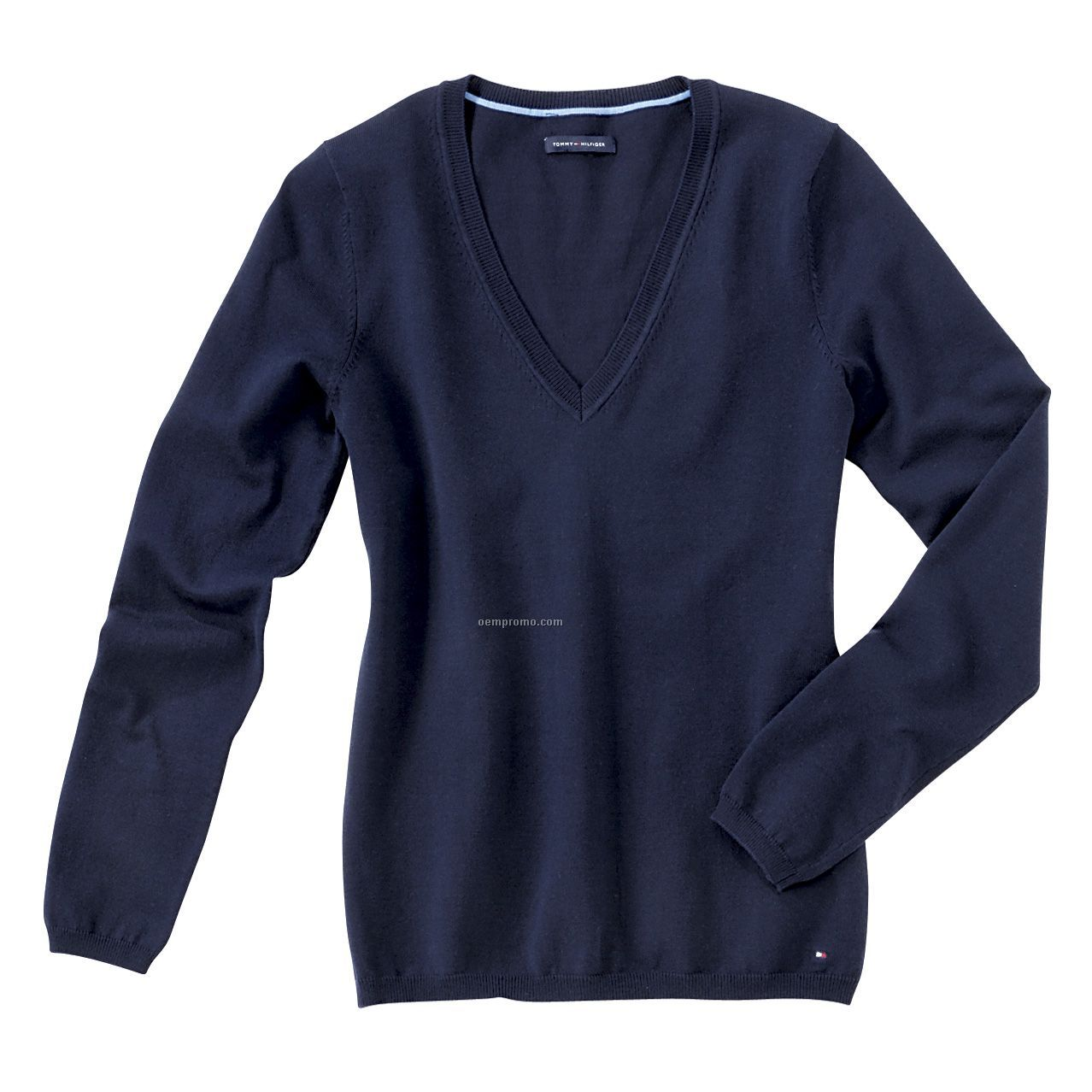 Tommy Hilfiger Women's Dora Long Sleeve V Neck Sweater (S-2xl ...
