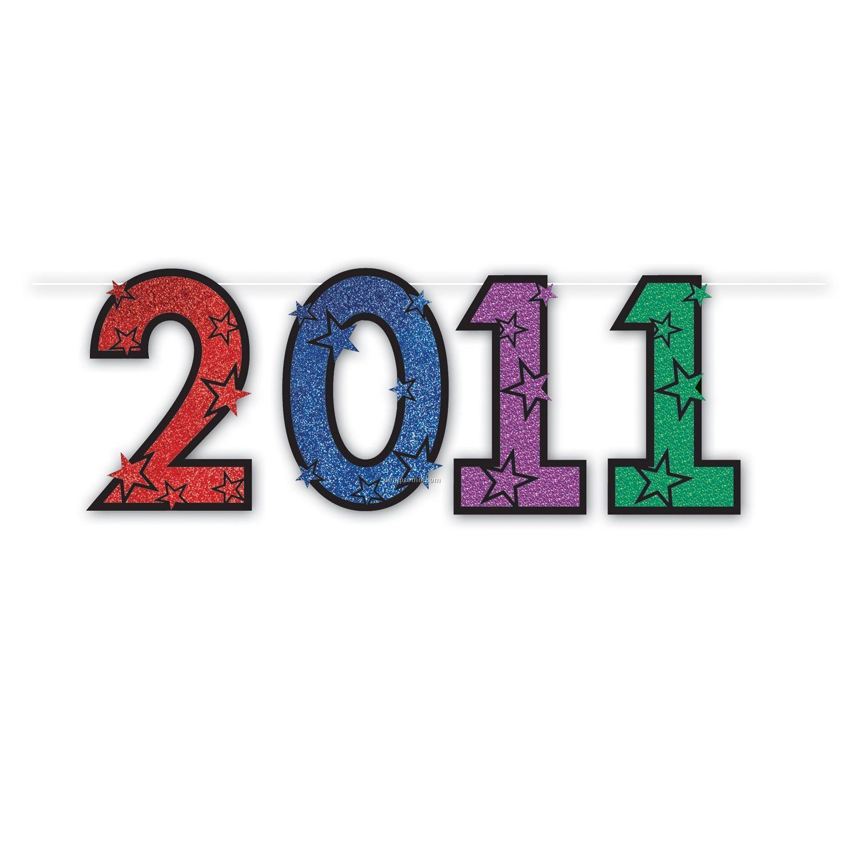 2011 Glittered Streamers