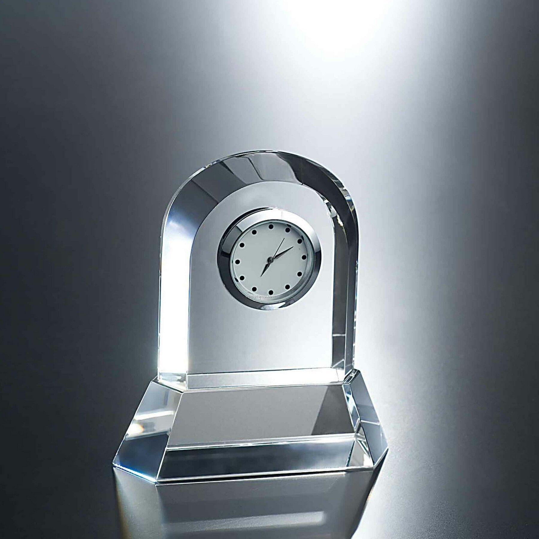 "4-1/2"" Tappa Optic Crystal Clock"