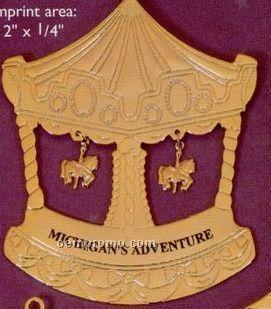Gold Carousel Charm Ornament