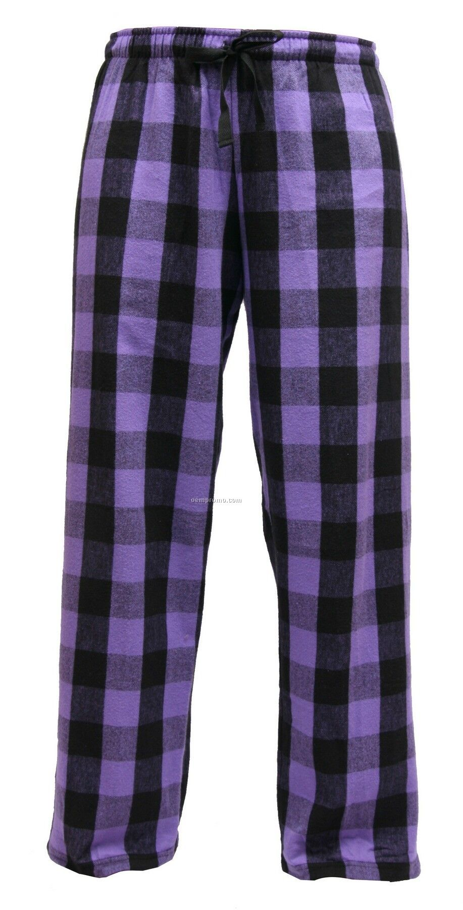 Youth Vivid Violet Plaid Fashion Flannel Pant With Tie Cord
